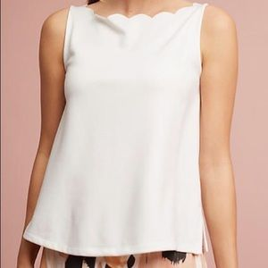 Anthropologie Eri + Ali Meg Scalloped Tank Large